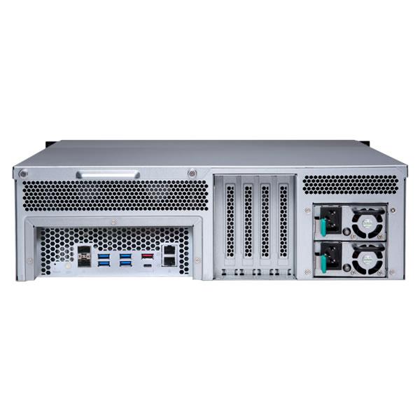 QNAP TS-1677XU-RP-2700-16G 16ベイ ラックマウントNASキット