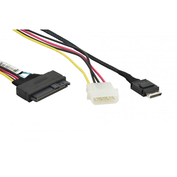 CBL-SAST-0956 55cm OCuLink to U.2 PCIE with Power Cable Supermicro