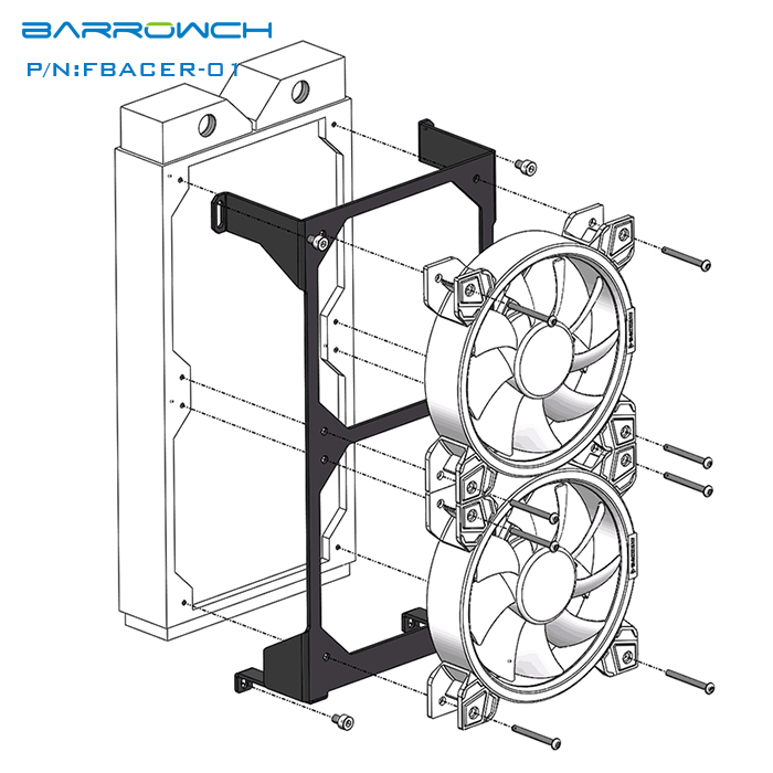 Barrowch Mobula 240 radiator installation module formodular panel case