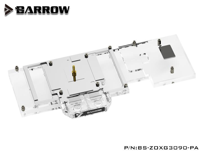 Barrow LRC2.0 full coverage GPU Water Block for ZOTAC 3090 X GAMING Aurora