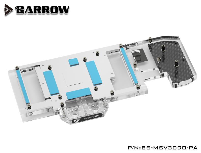 BARROW LRC2.0 full coverage GPU Water Block for MSI 3090 VENTUS Aurora