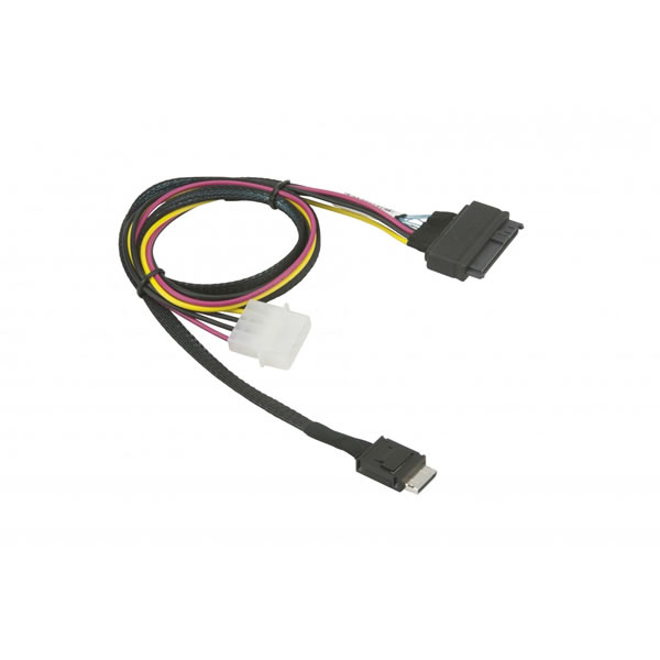 CBL-SAST-1011 75cm OCuLink to U.2 PCIE with Power Cable Supermicro