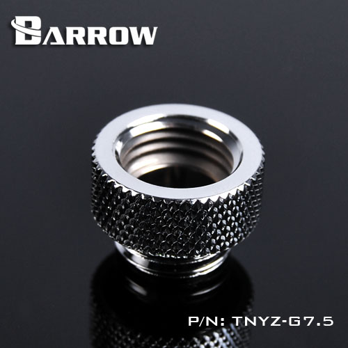 BARROW Male to Female Extender - 7.5mm Shiny silver