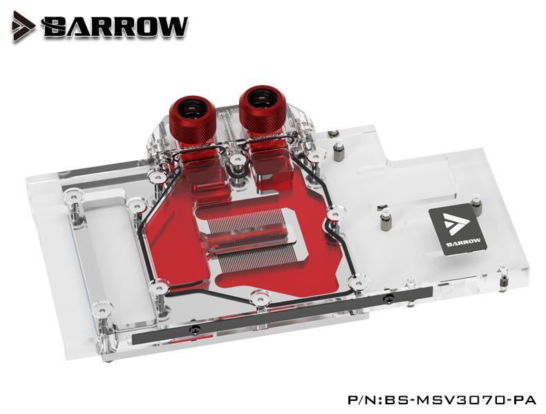 BARROW LRC2.0 full coverage GPU Water Block for MSI 3070 VENTUS Aurora