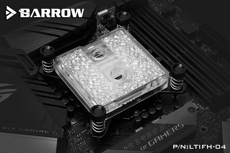 Barrow Icicle series jetting type micro waterway CPU block (Acrylic Edition) for INTEL platform