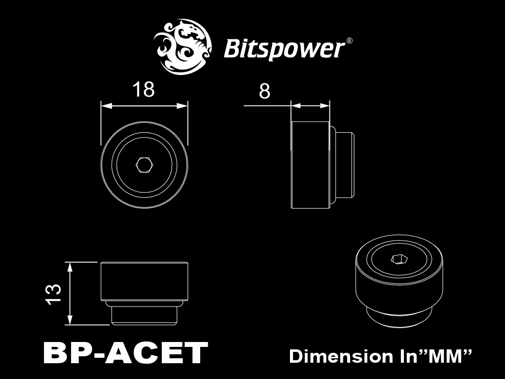 Bitspower automatic air-exhaust fitting version (Silver)