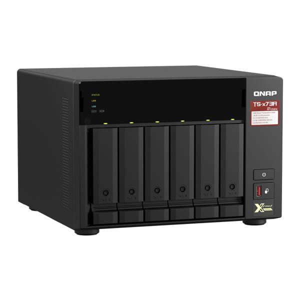QNAP TS-673A-8G 2.5/3.5インチ 6台搭載可能