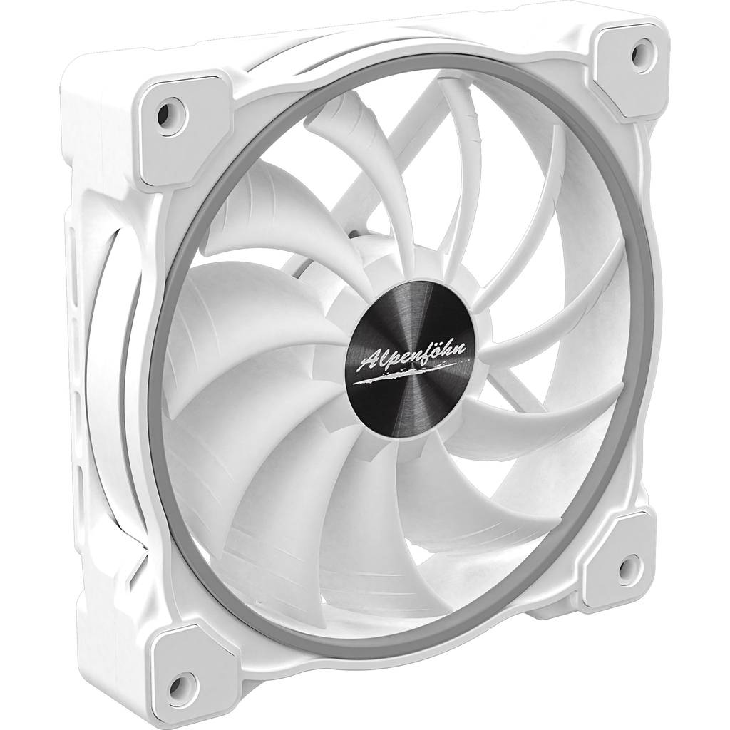 Alpenfoehn Wing Boost 3 ARGB White Edition Single 120mm Fan