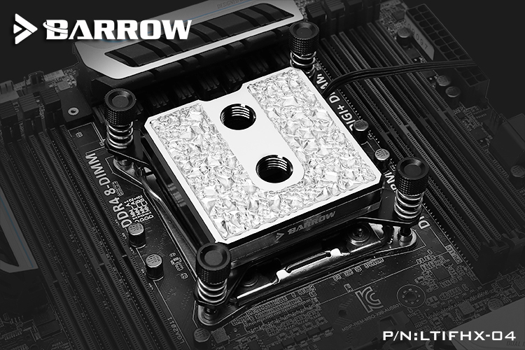 Barrow Icicle series jetting type micro waterway CPU block (Brass Edition) for X99 platform
