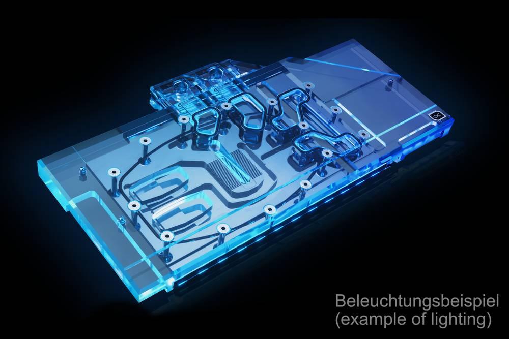 Alphacool Eisblock Aurora Acryl GPX-N RTX 3090/3080 Gaming X Trio with Backplate