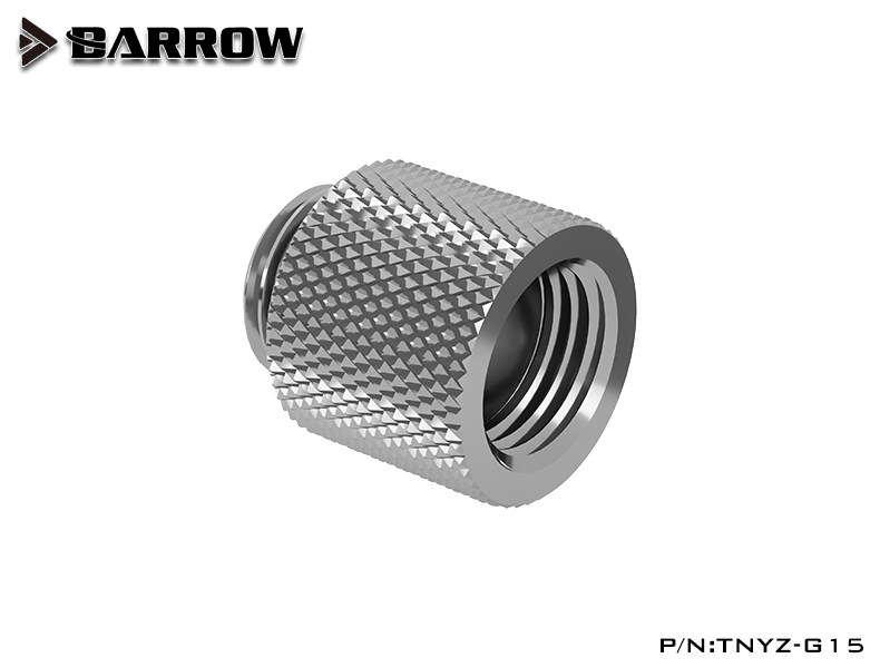 BARROW Male to Female Extender - 15mm Shiny silver