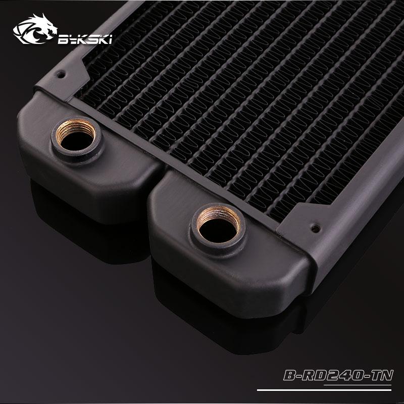 Bykski B-RD240-TN 240 pure copper water cooling row thin row radiator 12CM fan
