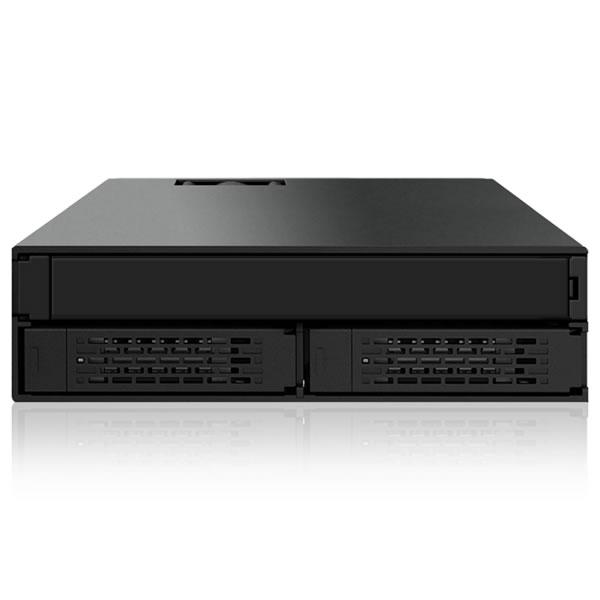 ICYDOCK MB994IPO-3SB 2.5インチHDD2台 スリム光学1台