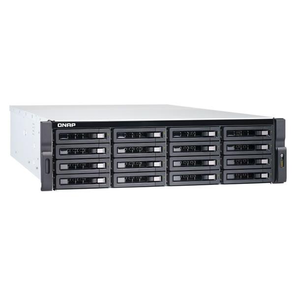 QNAP TVS-1672XU-RP-i3-8G 16ベイ ラックマウントNASキット