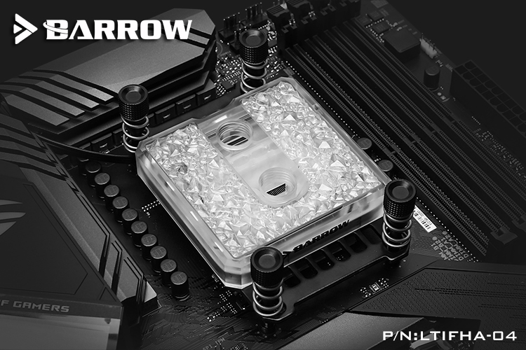 Barrow Icicle series jetting type micro waterway CPU block (Acrylic Edition) for AMD platform