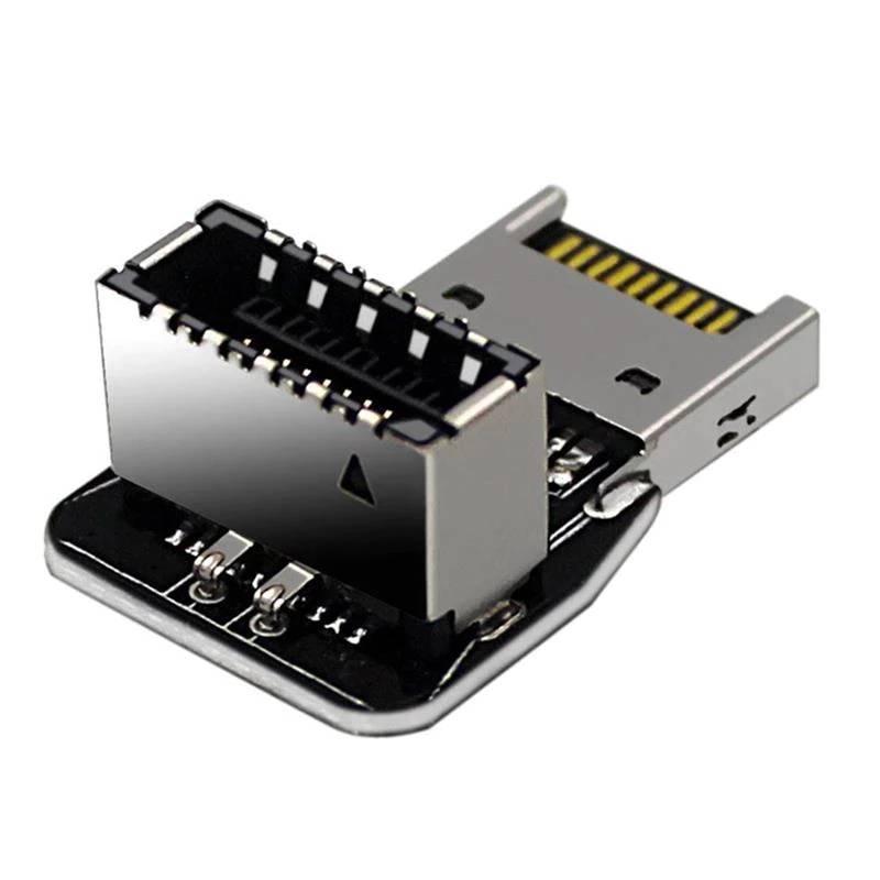 ノーブランド USB3.1 Type-E ヘッダ 90度アングルコネクタ Ver.A