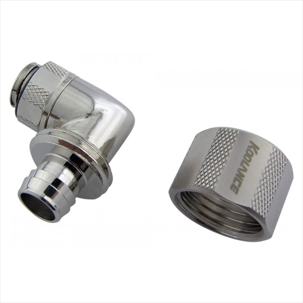 KOOLANCE FIT-L10X16 Rotary Elbow Compression Fitting for 10mm x 16mm (3/8in x 5/8in), G1/4 BSPP