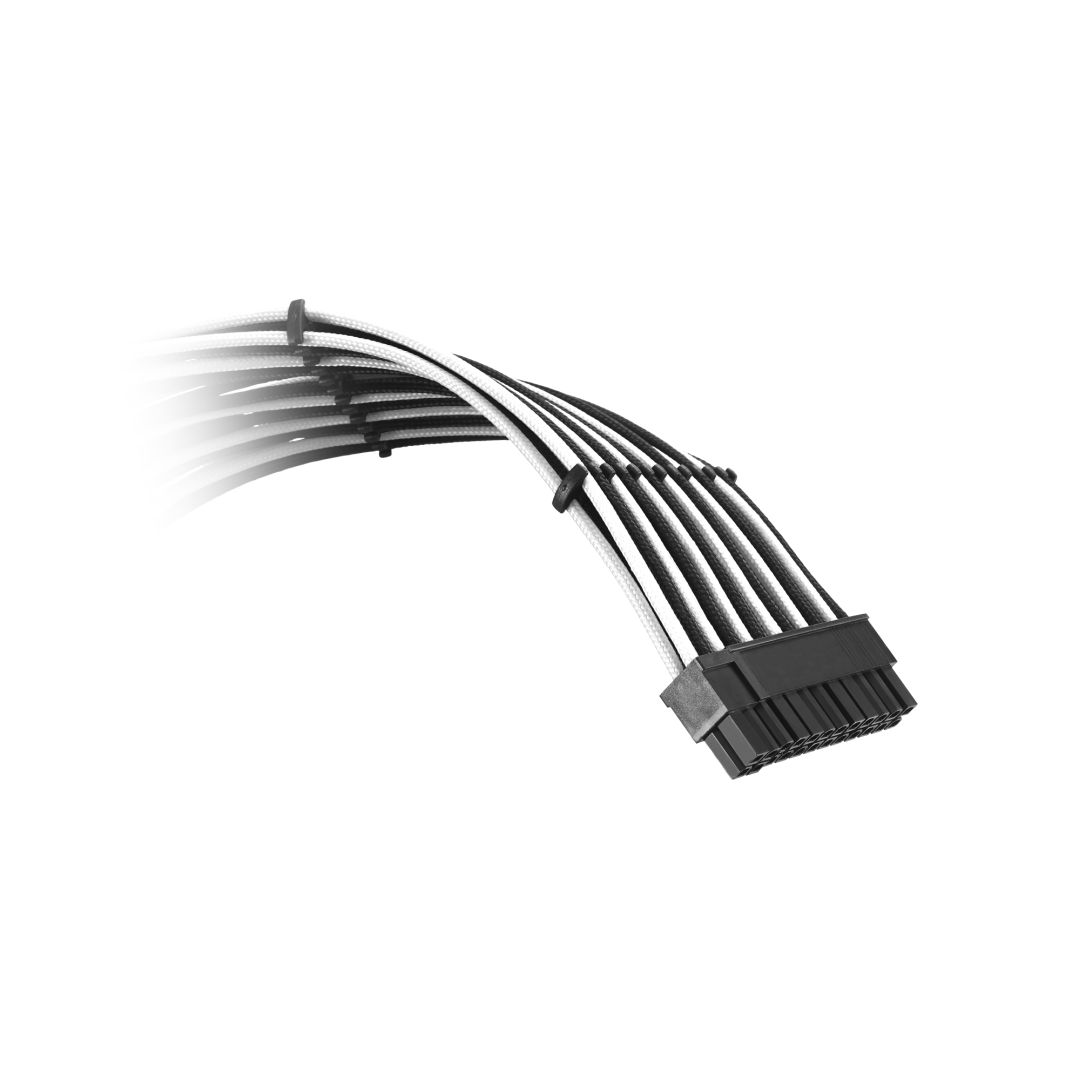 CableMod Classic ModFlex C-Series Cable Kit for Corsair AXi, HXi & RM - BLACK / WHITE (CM-CSI-CKIT-KKW-R)