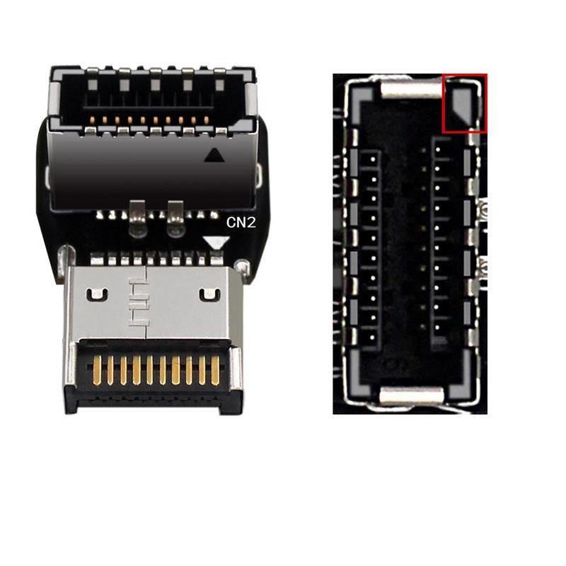 ノーブランド USB3.1 Type-E ヘッダ 90度アングルコネクタ Ver.B