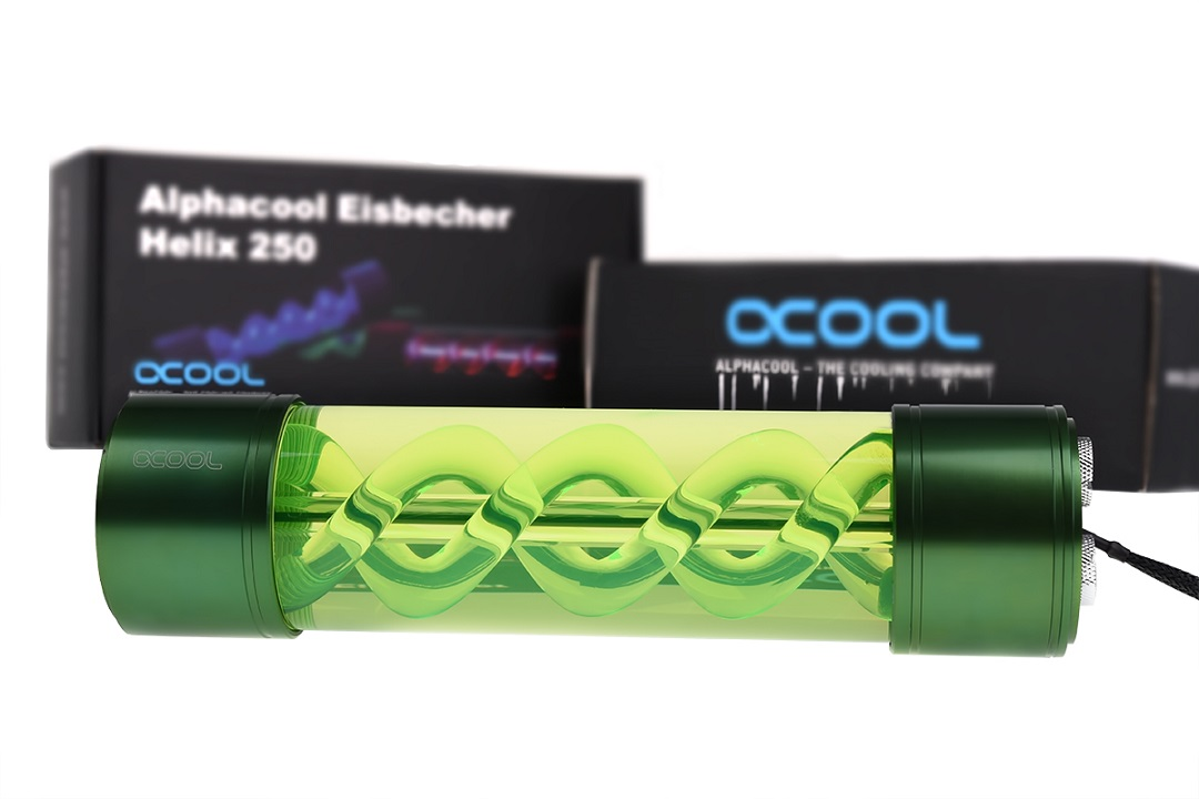 Alphacool Eisbecher Helix 250mm reservoir - green