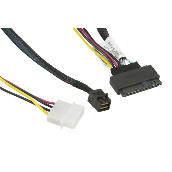 CBL-SAST-0957 55cm MiniSAS HD SFF-8643 to U.2 PCIE SFF-8639 with Power Cable