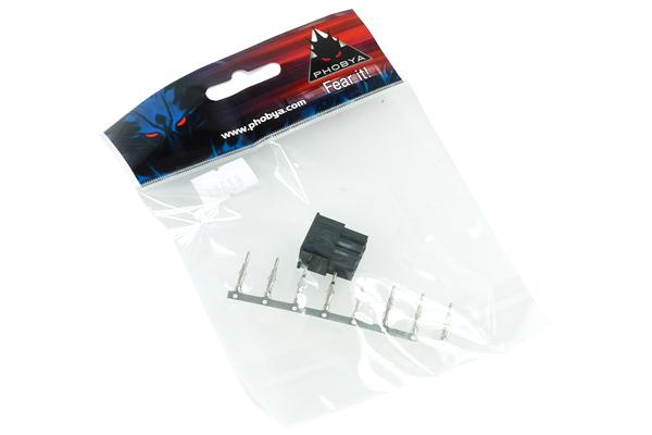 Phobya ATX Power Connector 8Pin male incl. 8 Pins - black