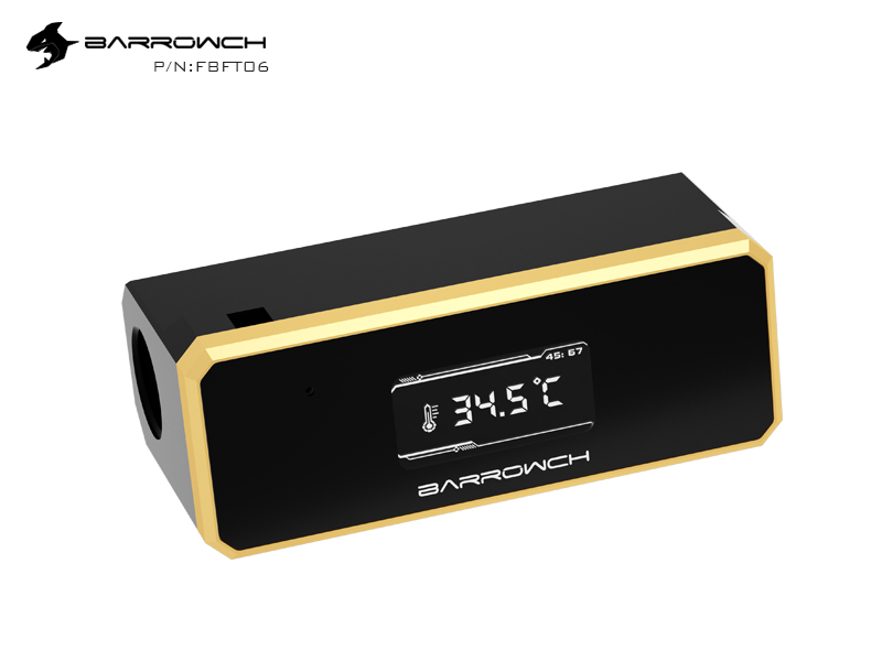 Barrowch Water temperature meter with TFT display Golden