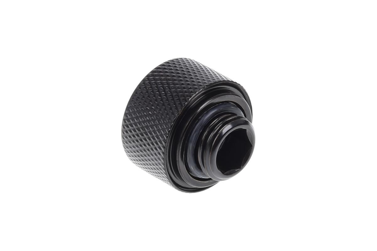 Alphacool Eiszapfen 16mm HardTube compression fitting G1/4 - knurled - deepp Black