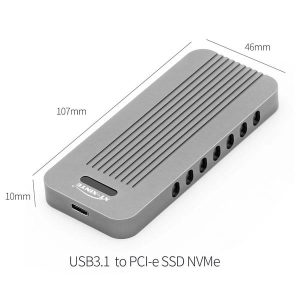 XT-XINTE LM902 NVMe SSD用 USB3.1 ケース