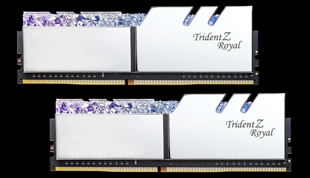 G.SKILL Trident Z Royal DDR4-3000 8GBx2 Silver (F4-3000C16D-16GTRS)