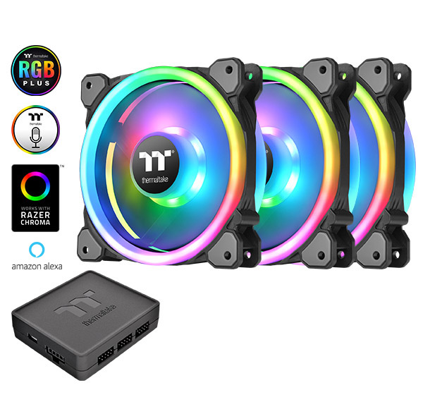Thermaltake Riing Trio PLUS 14 RGB Radiator Fan TT Premium Edition 3Pack (CL-F077-PL14SW-A)