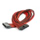 Phanteks sleeved extension cables for Motherboard [Black/Red] (PH-CB24P_BR)