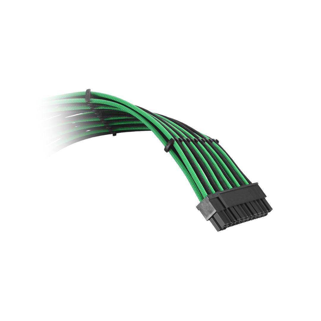 CableMod Classic ModFlex C-Series Cable Kit for Corsair RMi & RMx - BLACK / GREEN (CM-CSR-CKIT-KKG-R)