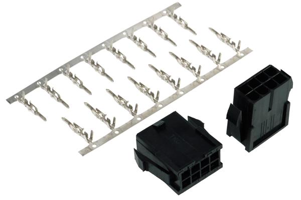 Phobya VGA Power Connector 8Pin female incl. 8 Pins - 2 pcs black