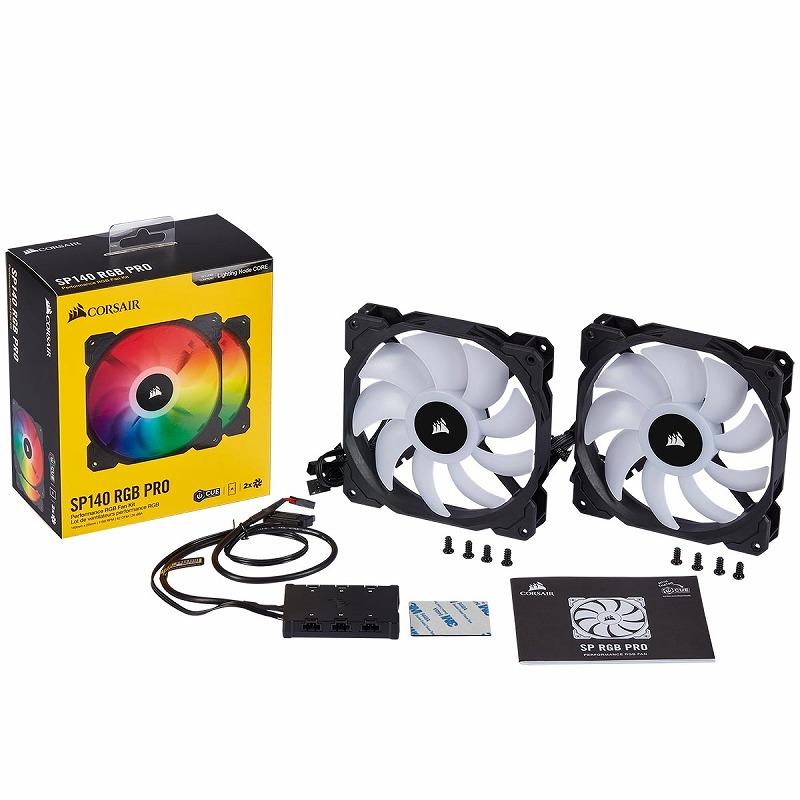CORSAIR iCUE SP140 RGB PRO Dual Pack