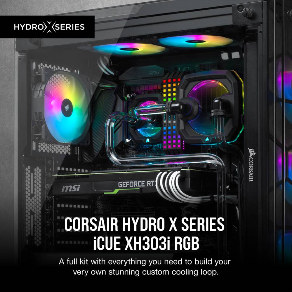 CORSAIR Hydro X Series iCUE XH303i RGB Custom Cooling Kit