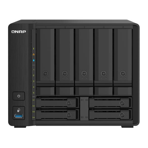 QNAP TS-932PX-4G 2.5/3.5インチ 5台、2.5インチ 4台搭載可能 10GbE/2.5GbE