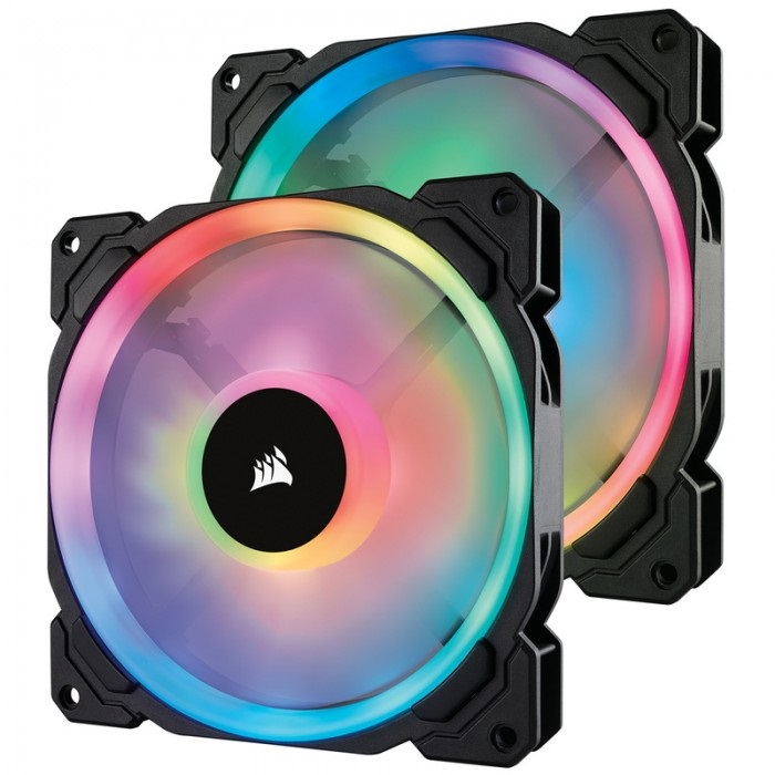 CORSAIR LL140 RGB 2 Fan Pack with Lighting Node PRO (CO-9050074-WW)