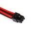 Phanteks sleeved extension cables for VGA 6pin [Black/Red] (PH-CB6V_BR)