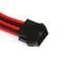 Phanteks sleeved extension cables for VGA 8pin [Black/Red] (PH-CB8V_BR)