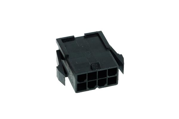 Phobya ATX Power Connector 8Pin female incl. 8 Pins - black