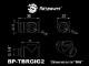 """Bitspower Matt Black T-Block Rotary G1/4""""& Inner G1/4""""x2"""