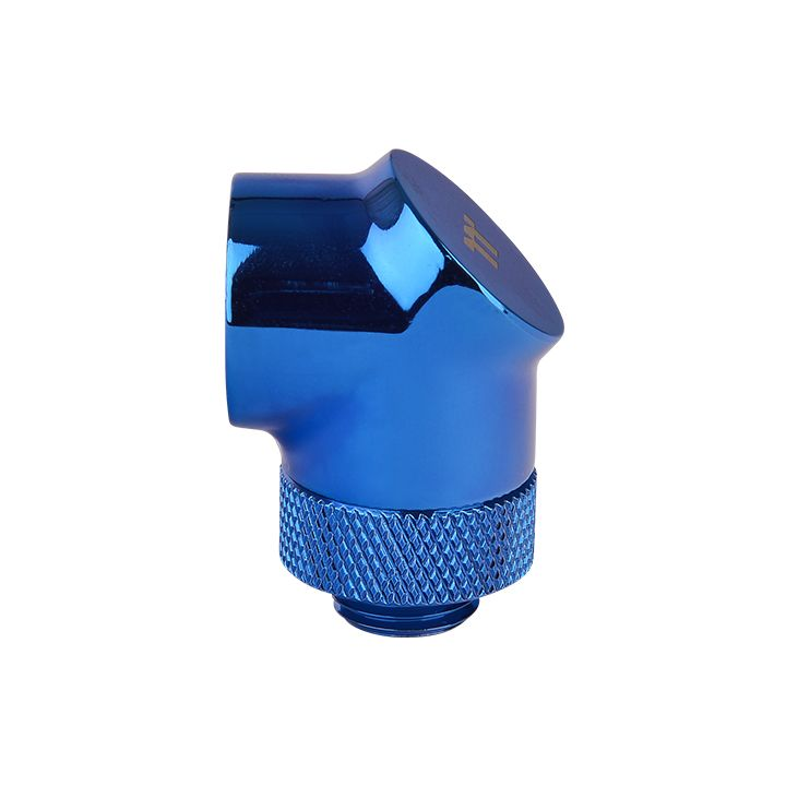 Thermaltake Pacific G1/4 90 Degree Adapter - Blue (2-Pack Fittings)