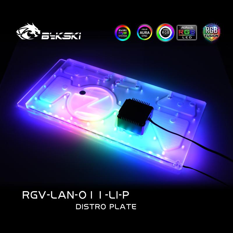 Bykski RGV-LAN-O11-LI-P DISTRO PLATE