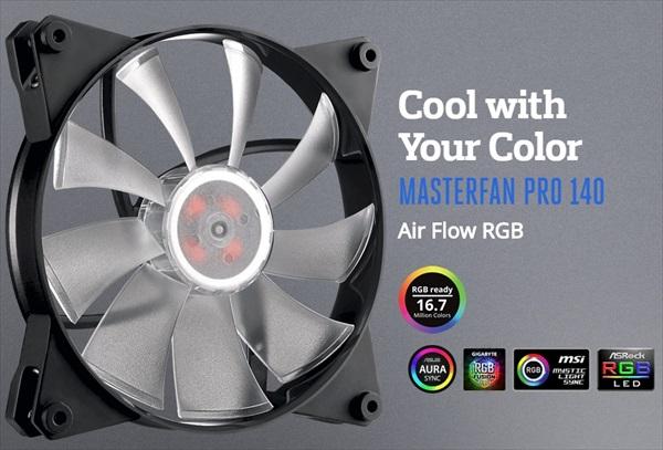 Cooler Master  MasterFan Pro 140 Air Flow RGB (MFY-F4DN-08NPC-R1)