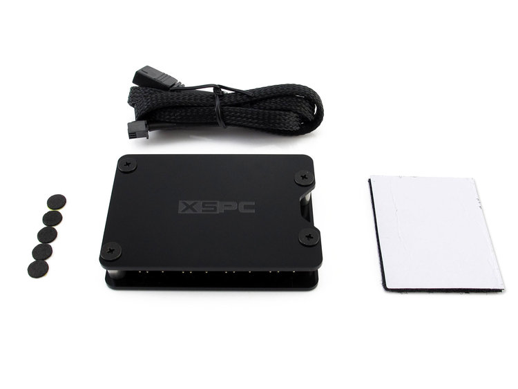 XSPC 8 Way, 3Pin, 5V, Addressable RGB Splitter Hub -SATA Powered (Black)