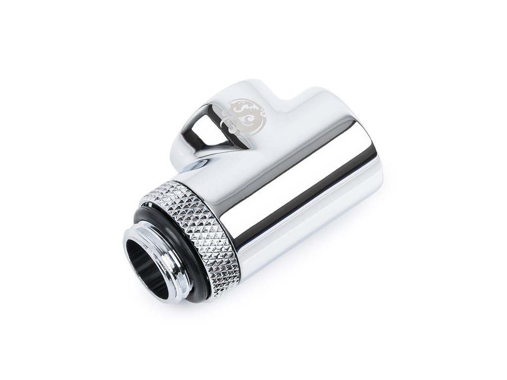 "Bitspower Silver Shining T-Block Rotary G1/4""& Inner G1/4""x2"
