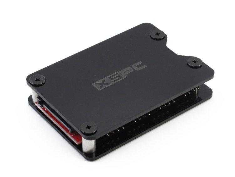 XSPC 8 Way, 4Pin, 12V RGB Splitter Hub - SATA Powered (Black)