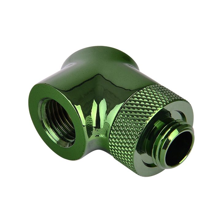 Thermaltake Pacific G1/4 90 Degree Adapter - Green (2-Pack Fittings)