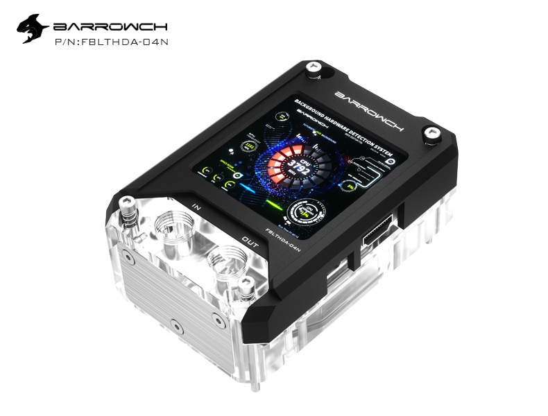 Barrowch AMD CPU water Block with HDMI display screen (FBLTHDA-04N) Black